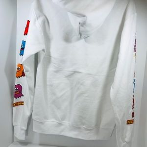 4bee92564 New Pac Man Vintage White Hoodie Men's Size XL